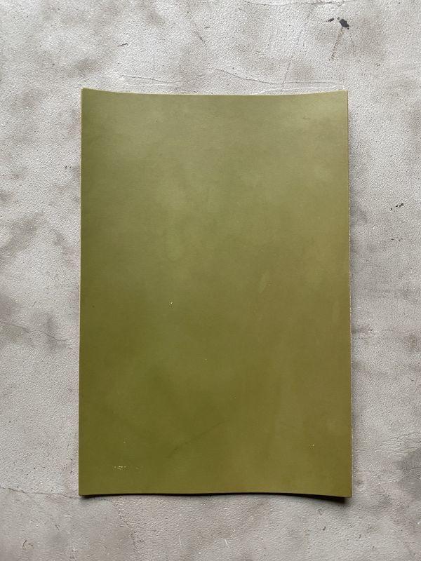 画像1: A4カットレザー オイルヌメ フォレストグリーン (1)