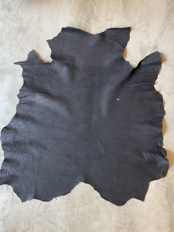 画像1: 牛 ヌバックバッファロー ブラック (1)