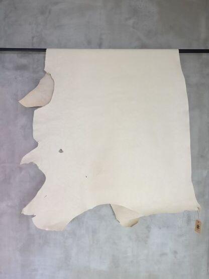 画像1: 牛 ヌメシュリンク Gキップ オフホワイト (1)
