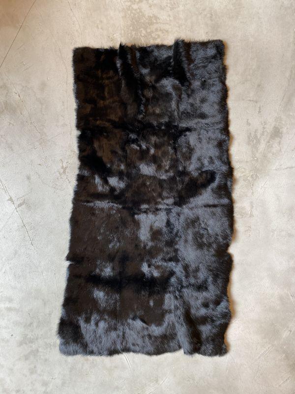 画像1: ラビットファー プレート ブラック (1)