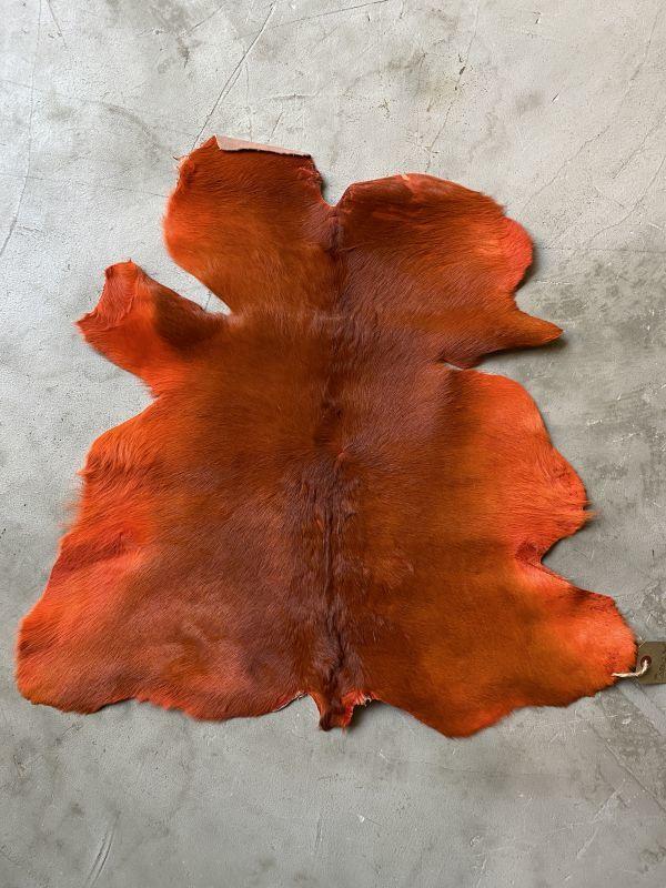 画像1: 牛 ヘアーカーフ オレンジ (1)