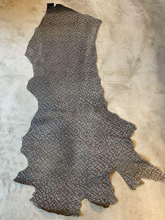 画像1: ヒポポタマス エンボス グレー (1)