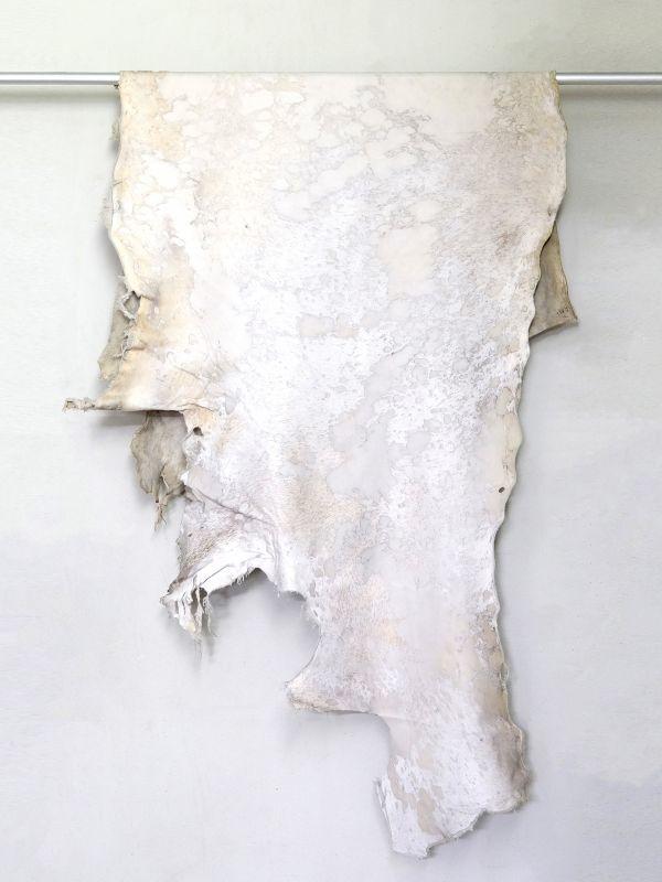 画像1: 牛 マンダラ毛皮 ホワイト×ホワイト (1)